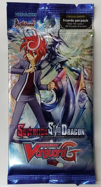Vanguard GBT03 Sovereign Star dragon booster packs