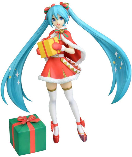 Hatsune Miku Super Premium Action Figure Christmas 2019, 9""