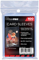 "UPSP Ultra Pro Soft Card Sleeves 2-5/8"" X 3-5/8"", Ultra Clear (100Count)"