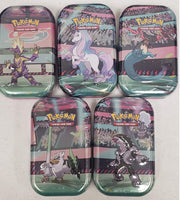 Pokemon TCG Galar Power Mini Booster Tins Set - All 5 Characters