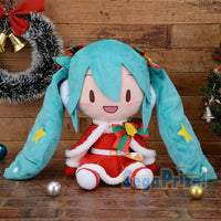 Hatsune Miku Official Licensed Special Fluffy stuffed Soft plush Christmas 2019 by Sega