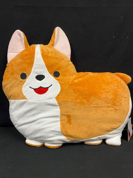 "Ichinoni The Corgi Dog Big XLarge Plush Toy Pillow Amuse Japan 20""L 12""W 4"" H"