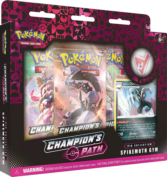 Pokemon TCG: Champion's Path Pin Collection (BALLONLEA, SPIKEMUTH, and HAMMERLOCKE Gyms), Multi
