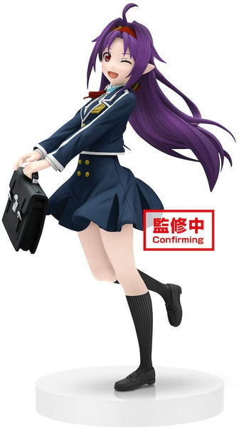 Sword Art Online Official Licensed Yuuki School Uniform EXQ Figure by Banpresto