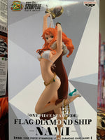 One Piece Stampede Flag Diamond Ship Nami figure By Banpresto