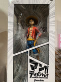 One Piece Grandista Manga Dimension Monkey D Luffy figure by Banpresto 10.5""