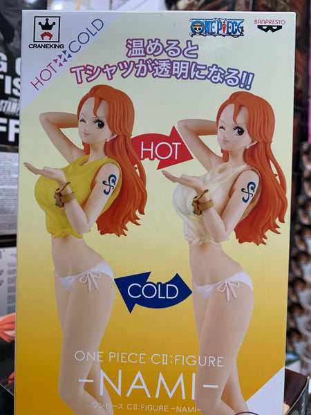 One Piece cII figure Nami color changing top by Banpresto