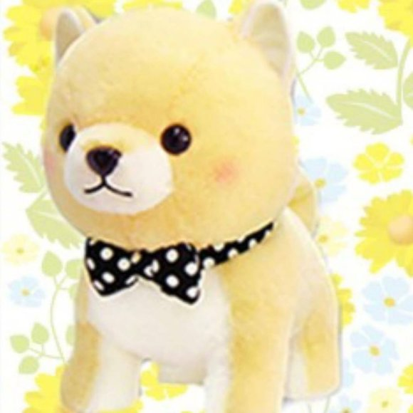 Amuse Premium Mameshiba Brothers Plush BIG Yellow Pastel Shiba Stuffed Dog Pup