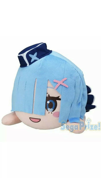 Re Zero Mega Jumbo Nesoberi Plush Rem Welcome Aboard Lugnica AirLines SEGA