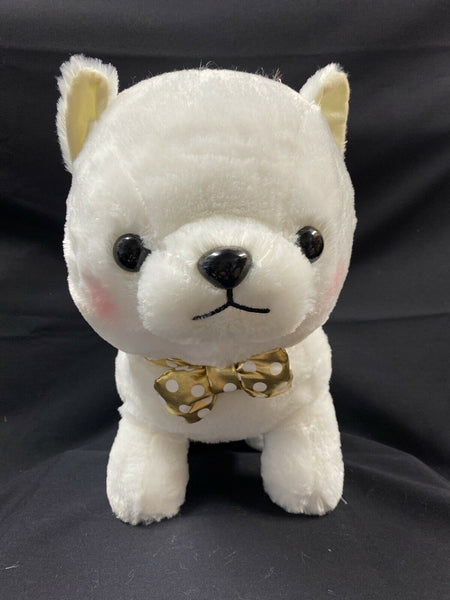 Amuse Premium Mameshiba Brothers Plush BIG White Pastel Shiba Stuffed Dog Pup