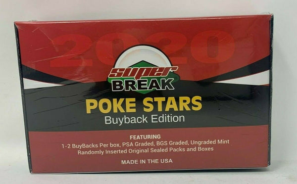 POKEMON TCG 2020 SUPER BREAK POKE STARS Buyback Pokemon Edition Factory Sealed Hobby Box