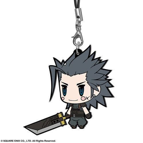 Final Fantasy VII Zack Fair Trading Rubber Phone Strap Extended Edition