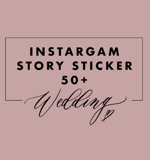 Story Sticker Paket Wedding Edition