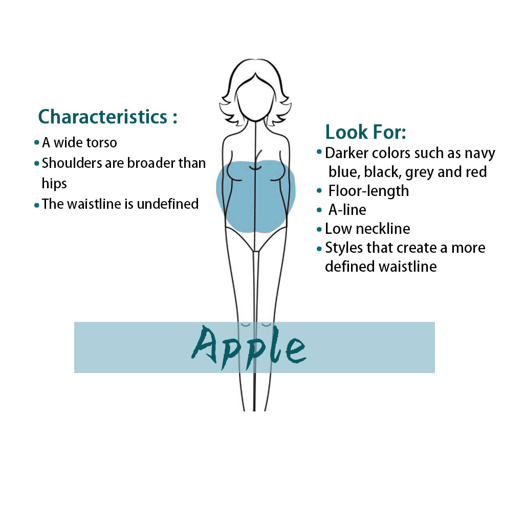Best types of prom dress for apple shape