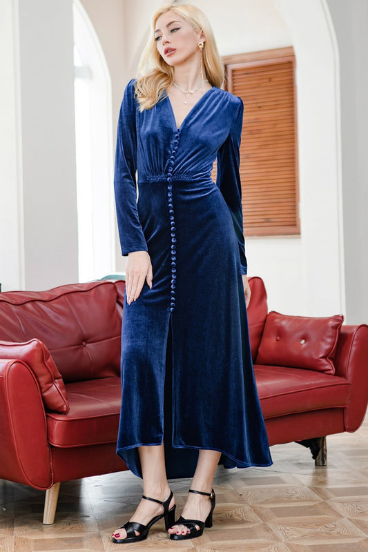 blue holiday party dresses