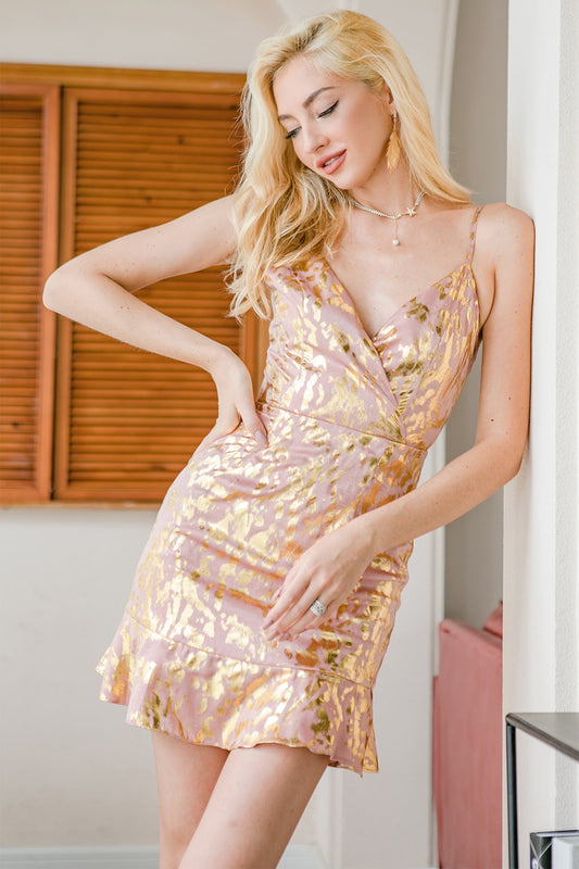 pink holiday party dresses