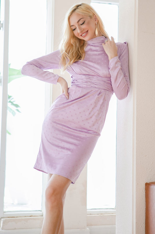 purple holiday party dresses