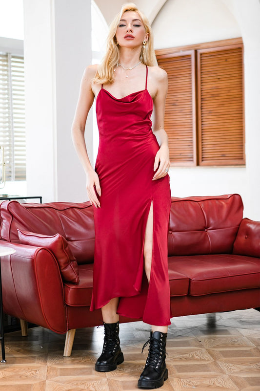 red holiday party dresses