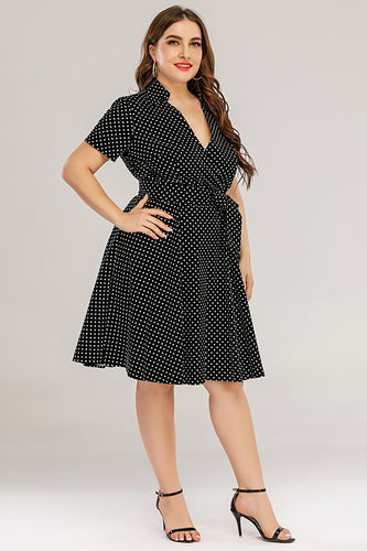 Plus Size V Neck Swing Dress