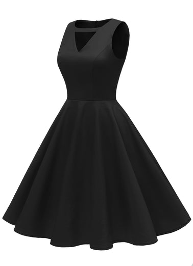 Vintage 1950s Retro Rockabilly Cocktail Party Dress