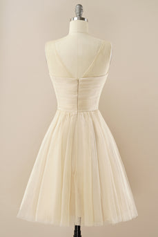 Beading Tulle Homecoming Dress