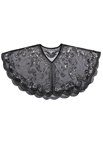1920s Glitter Sequins Cape
