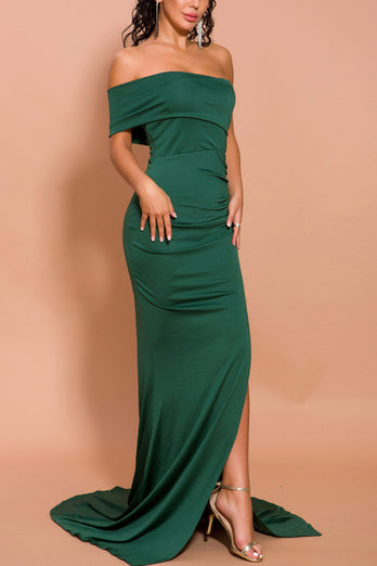 Mermaid One Shoulder Dress with Slit