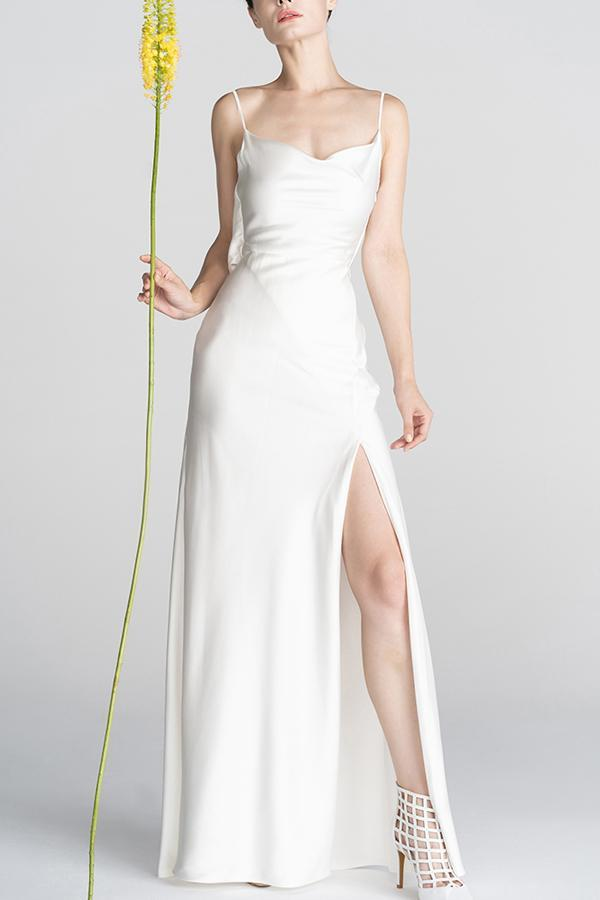 Load image into Gallery viewer, Mermaid Slit Long Prom Dress