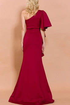 One Shoulder Evening Party Dress
