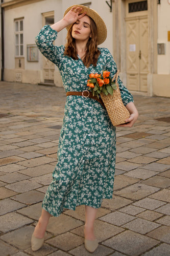 Summer Small Floral Print Casual Dress