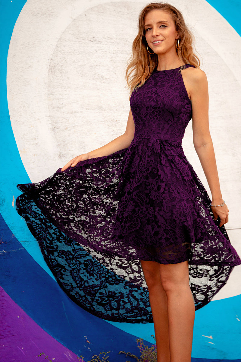 Load image into Gallery viewer, Grape Halter Lace