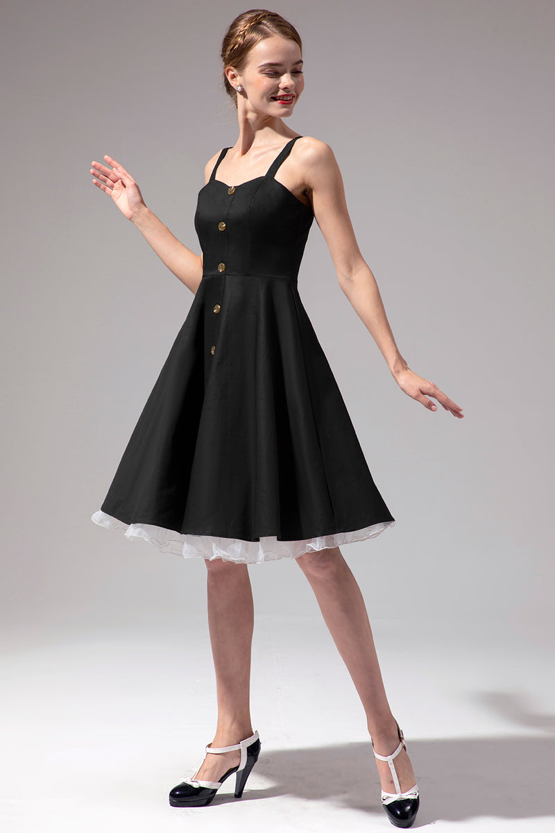 Load image into Gallery viewer, Vintage Swing Dress With Button