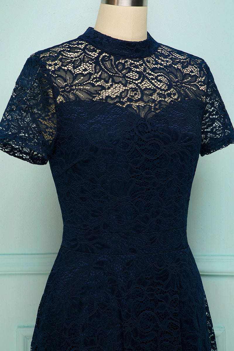 Load image into Gallery viewer, Navy High Neck Lace