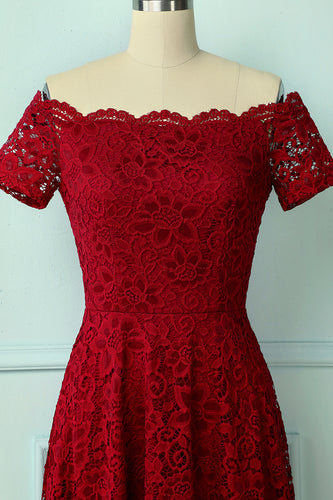 Red Lace Asymmetrical