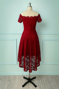Burgundy Asymmetrical Dress