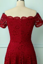 Load image into Gallery viewer, Red Lace Asymmetrical
