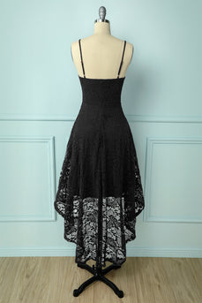 High Low Black Lace Dress