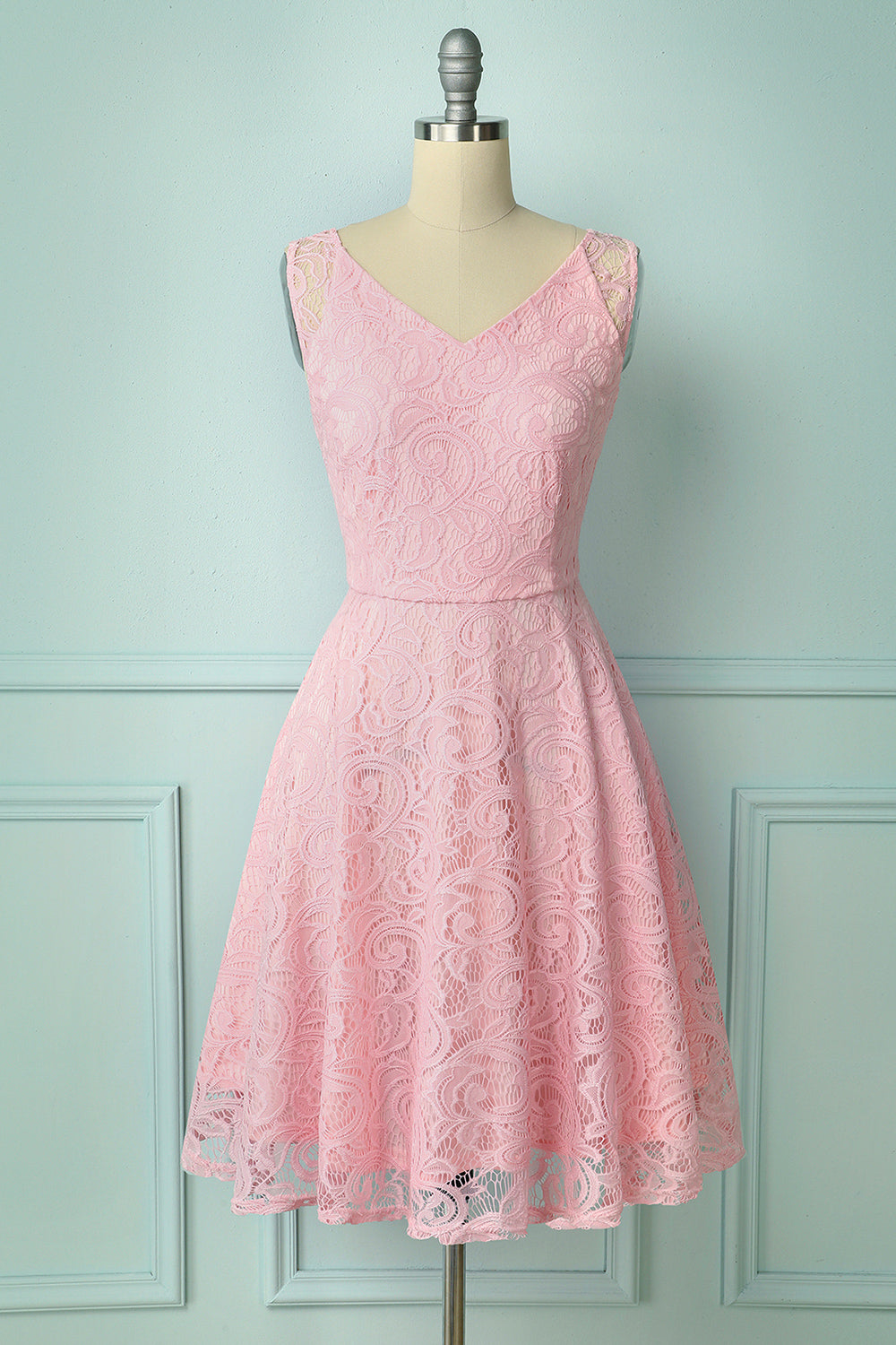 Pink Lace Bridesmaid