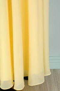 Yellow V-neck Long Dress