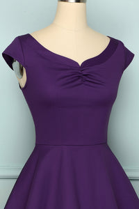 1950s Purple Dress