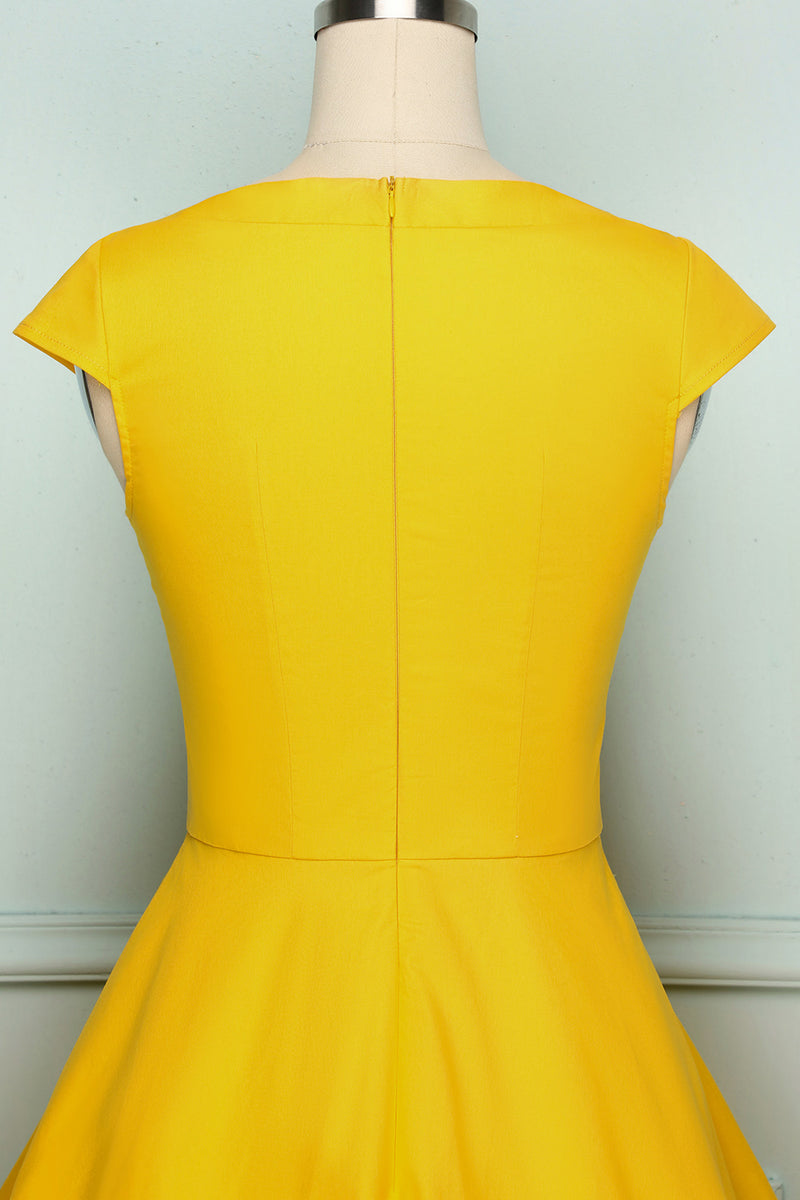 Load image into Gallery viewer, 50s Solid Dress