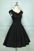 Load image into Gallery viewer, Black 50s Dress