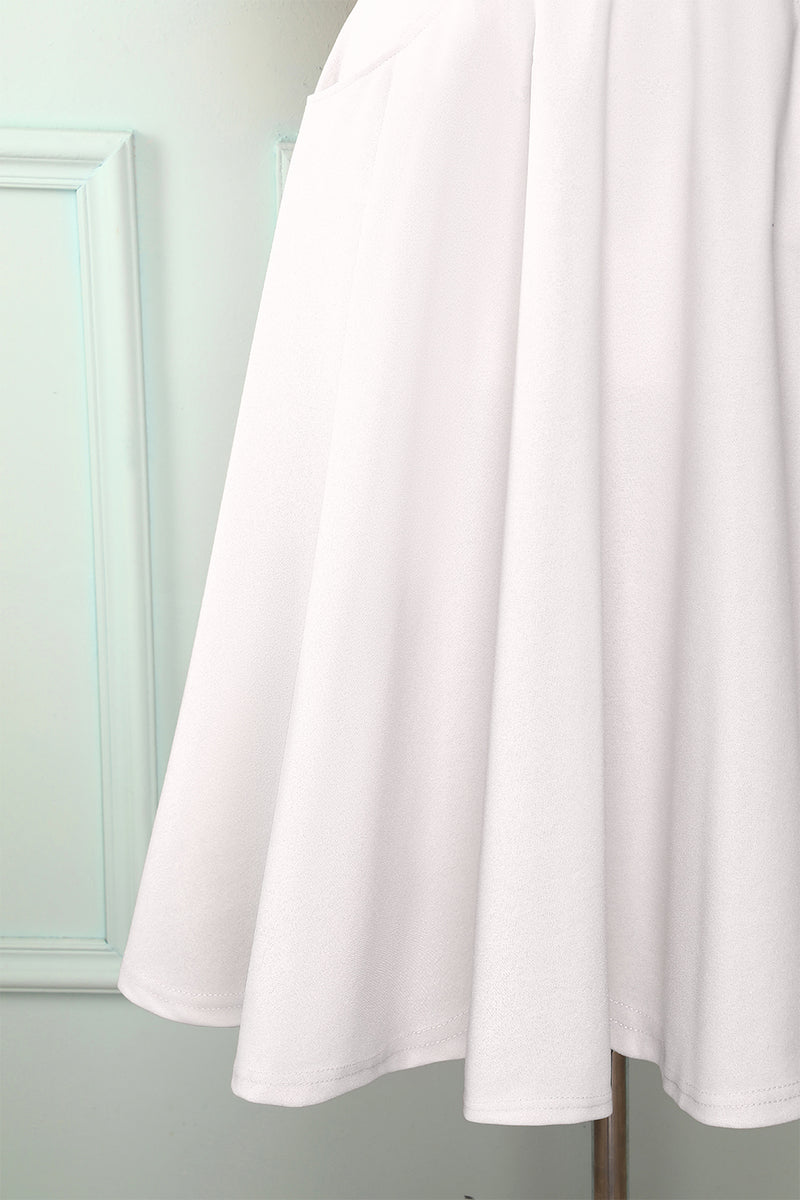 Load image into Gallery viewer, White Midi Dress with Pockets