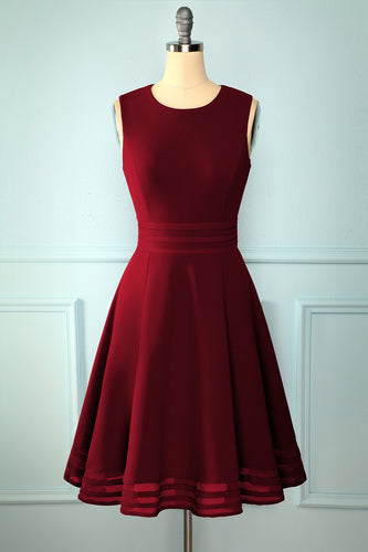 Solid Burgundy Midi Dress