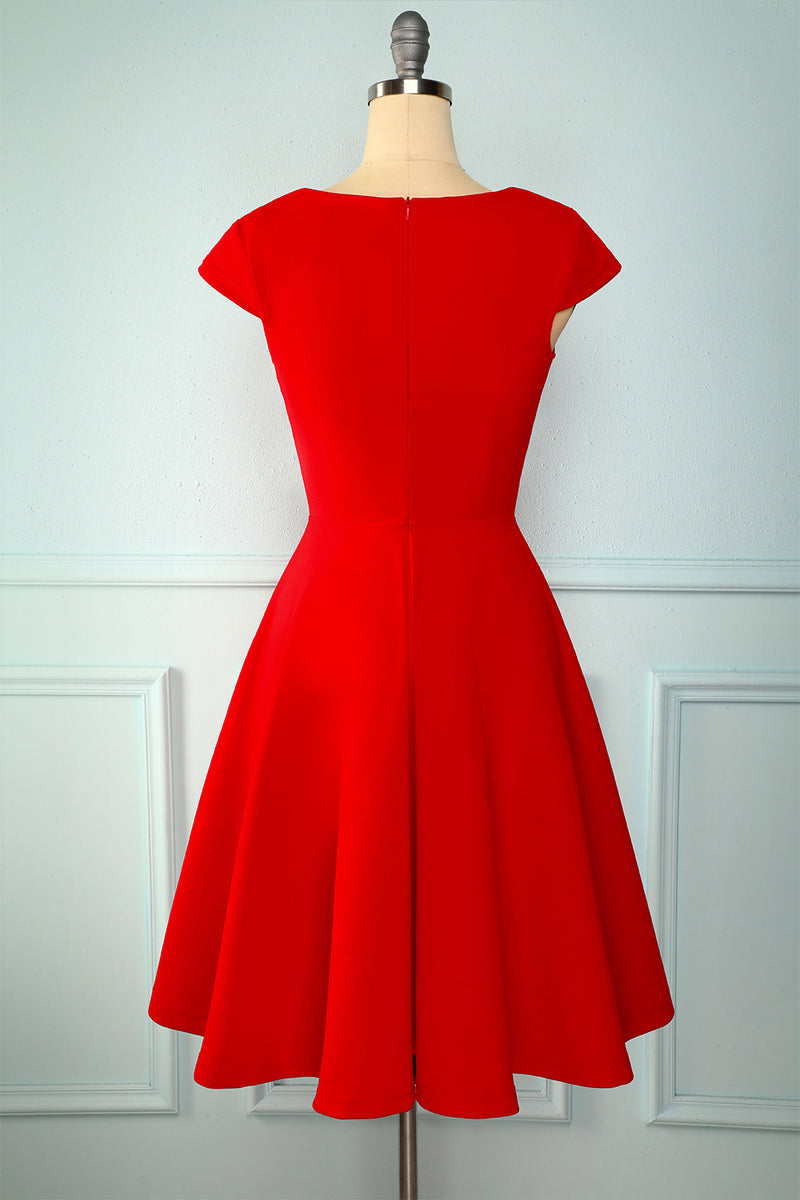 Load image into Gallery viewer, Red Solid Dress