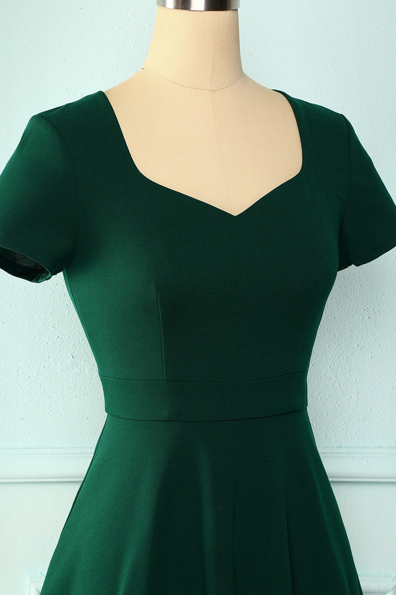 Load image into Gallery viewer, Dark Green V Neck Dress