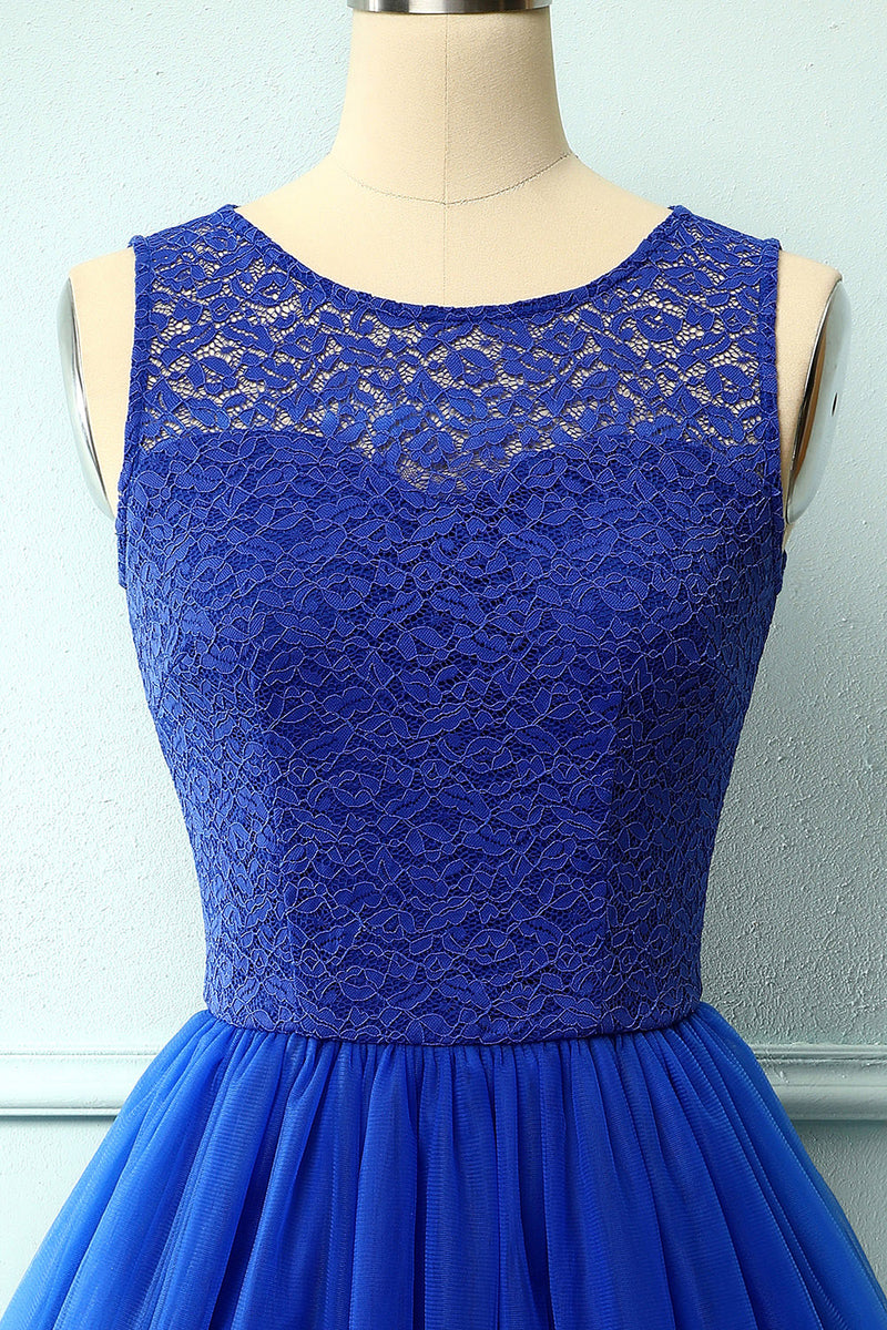 Load image into Gallery viewer, Royal Blue Lace Homecoming