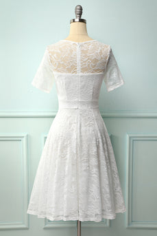 Vintage White Lace Dress