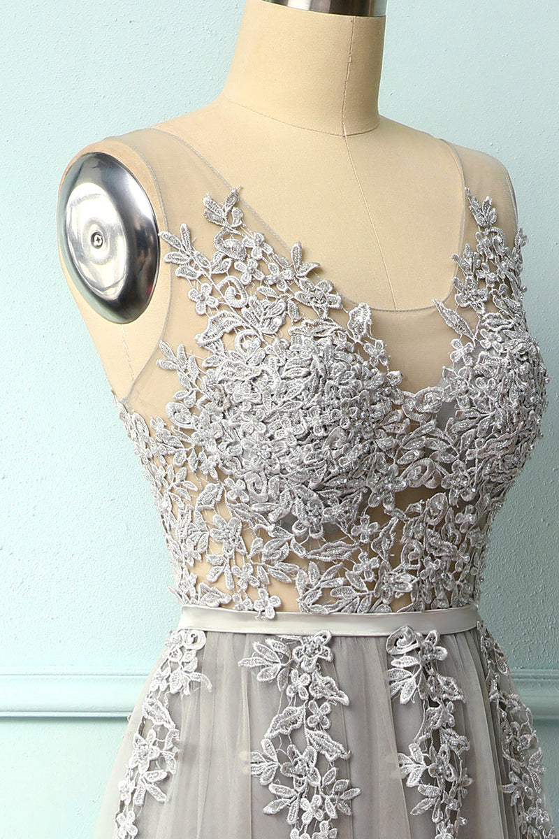 Load image into Gallery viewer, Appliques Long Prom Dress