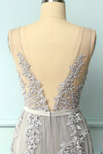 Load image into Gallery viewer, Grey Appliques Dress